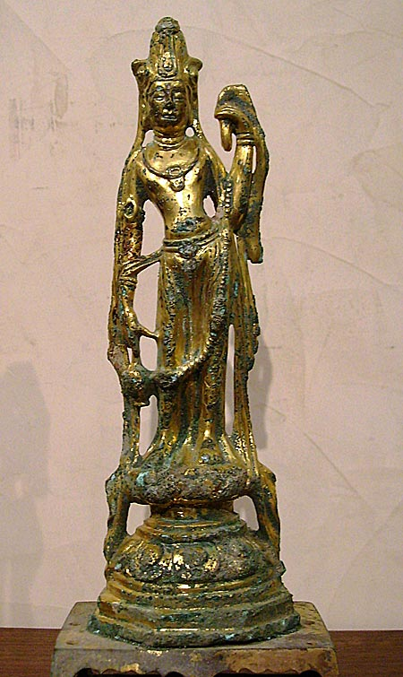 guanyin en bronze doré - Guanyin en bronze doré - Dynastie Tang (618 - 906) - archives