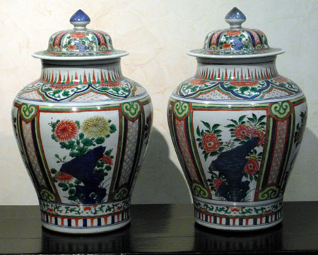 pair of wucai - Pair of wucai - Transitional period XVII th century - files